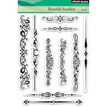 Penny Black - Clear Acrylic Stamps - Flourish Borders