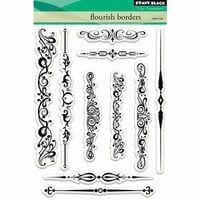 Penny Black - Clear Photopolymer Stamps - Flourish Borders