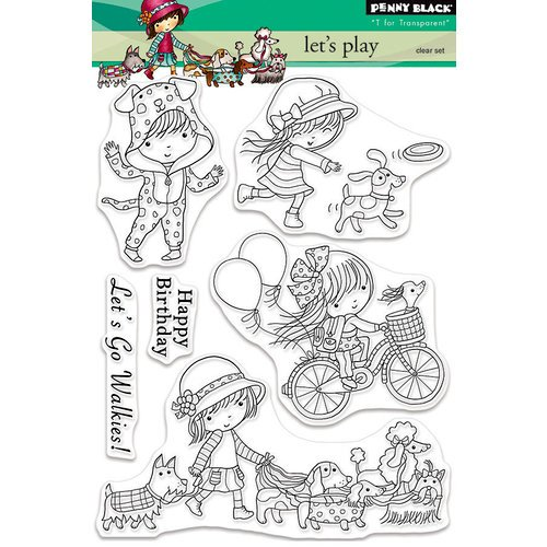 Penny Black - Clear Photopolymer Stamps - Lets Play