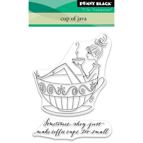 Penny Black - Clear Photopolymer Stamps - Cup of Java