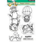 Penny Black - Clear Acrylic Stamps - Happy Critters