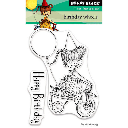 Penny Black - Clear Photopolymer Stamps - Birthday Wheels