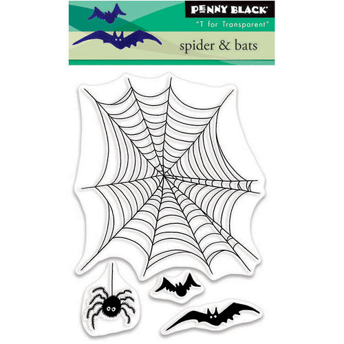Penny Black - Halloween - Clear Photopolymer Stamps - Spider and Bats