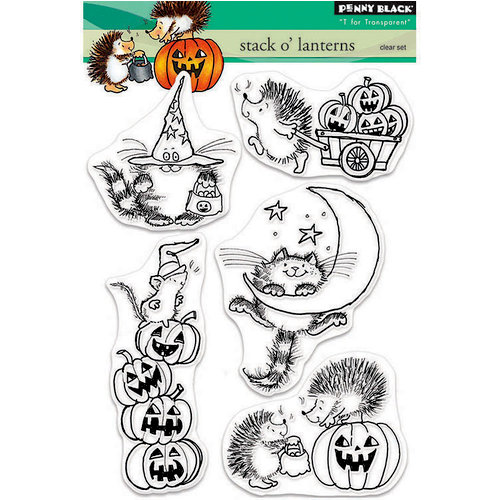 Penny Black - Halloween - Clear Photopolymer Stamps - Stack O