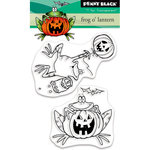 Penny Black - Halloween - Clear Acrylic Stamps - Frog O'Lantern