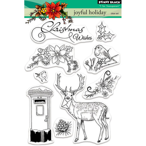 Penny Black - Christmas - Clear Photopolymer Stamps - Joyful Holiday