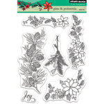 Penny Black - Christmas - Clear Acrylic Stamps - Pine and Poinsettia