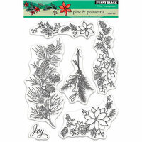 Penny Black - Christmas - Clear Photopolymer Stamps - Pine and Poinsettia