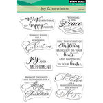 Penny Black - Christmas - Clear Acrylic Stamps - Joy and Merriment