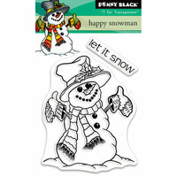 Penny Black - Christmas - Clear Photopolymer Stamps - Happy Snowman