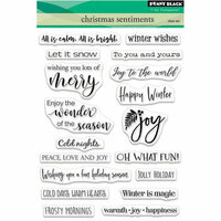 Penny Black - Christmas - Clear Photopolymer Stamps - Christmas Sentiments