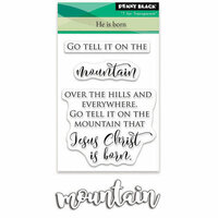Penny Black - Christmas - Die and Acrylic Stamp Set - He is Born
