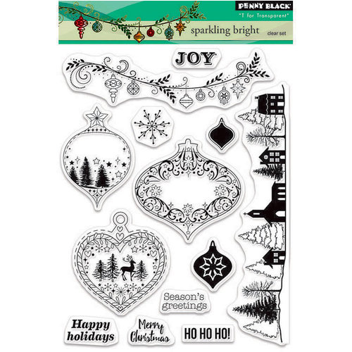 Penny Black - Christmas - Clear Acrylic Stamps - Sparkling Bright