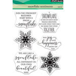 Penny Black - Christmas - Clear Acrylic Stamps - Snowflake Sentiments