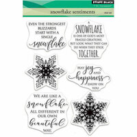 Penny Black - Christmas - Clear Photopolymer Stamps - Snowflake Sentiments