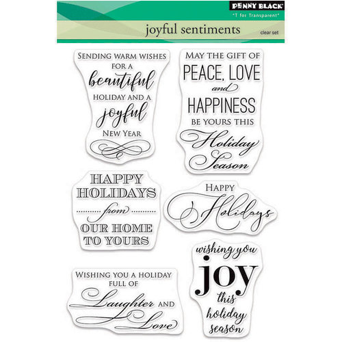 Penny Black - Christmas - Clear Photopolymer Stamps - Joyful Sentiments