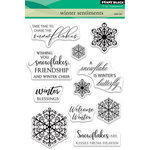 Penny Black - Christmas - Clear Acrylic Stamps - Winter Sentiments