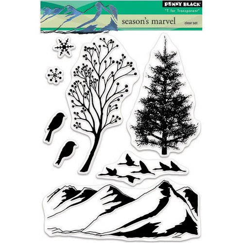 Penny Black - Christmas - Clear Photopolymer Stamps - Season's Marvel