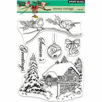 Penny Black - Christmas - Clear Photopolymer Stamps - Snowy Cottage