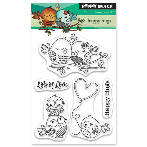 Penny Black - Happy Heart Day - Clear Photopolymer Stamps - Happy Hugs