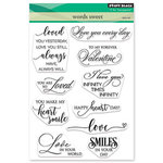 Penny Black - Happy Heart Day - Clear Photopolymer Stamps - Words Sweet