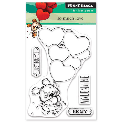 Penny Black - Happy Heart Day - Clear Photopolymer Stamps - So Much Love