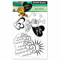 Penny Black - Happy Heart Day - Clear Photopolymer Stamps - Bee Mine