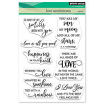 Penny Black - Happy Heart Day - Clear Photopolymer Stamps - Love Sentiments