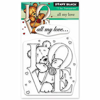 Penny Black - Happy Heart Day - Clear Photopolymer Stamps - All My Love