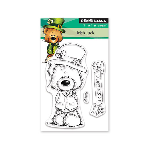 Penny Black - Timeless Collection - Mini Clear Photopolymer Stamps - Irish Luck