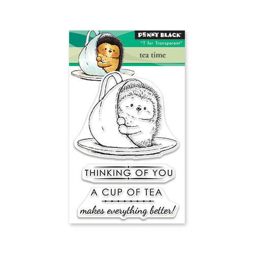 Penny Black - Timeless Collection - Mini Clear Photopolymer Stamps - Tea Time
