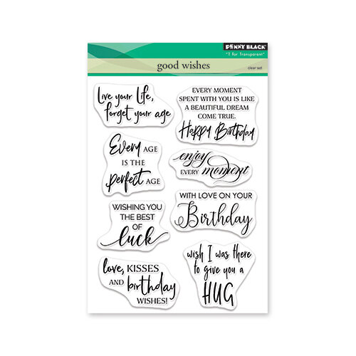 Penny Black - Timeless Collection - Clear Photopolymer Stamps - Good Wishes