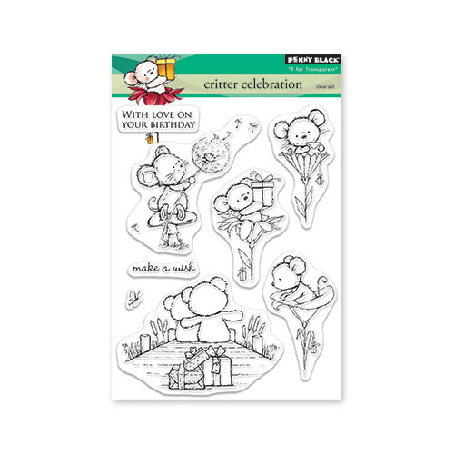 Penny Black - Timeless Collection - Clear Photopolymer Stamps - Critter Celebration