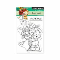 Penny Black - Timeless Collection - Clear Photopolymer Stamps - Flower Teddy