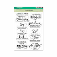 Penny Black - Timeless Collection - Clear Photopolymer Stamps - Sentiments