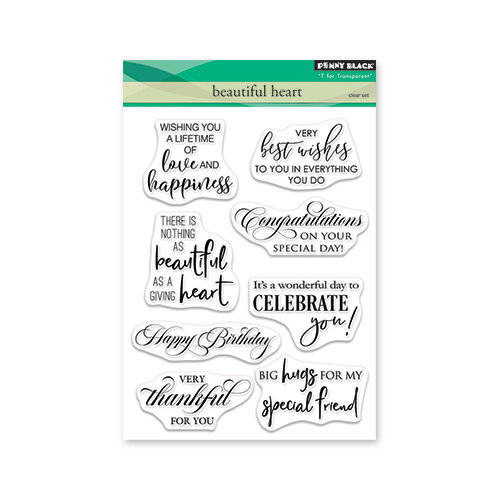 Penny Black - Clear Photopolymer Stamps - Beautiful Heart