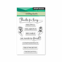 Penny Black - Timeless Collection - Mini Clear Photopolymer Stamps - Sending Thanks