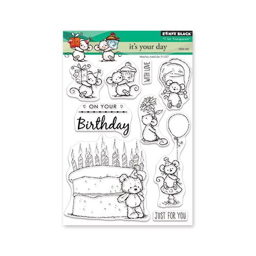 Penny Black - Full Bloom - Clear Photopolymer Stamps - Its Your Day