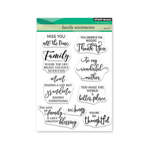 Penny Black - Full Bloom - Clear Photopolymer Stamps - Family Sentiment