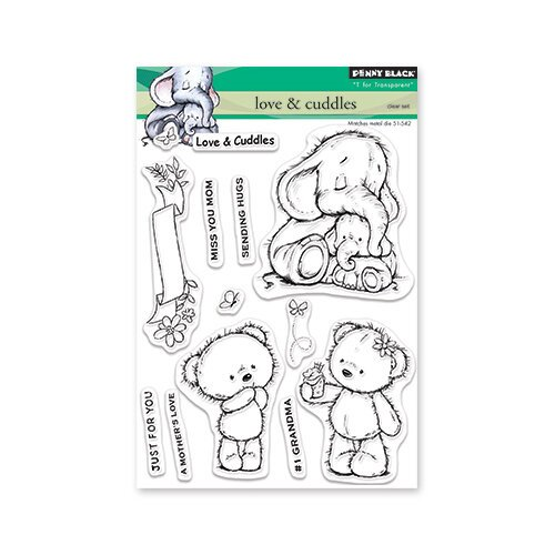 Penny Black - Full Bloom - Clear Photopolymer Stamps - Love and Cuddles