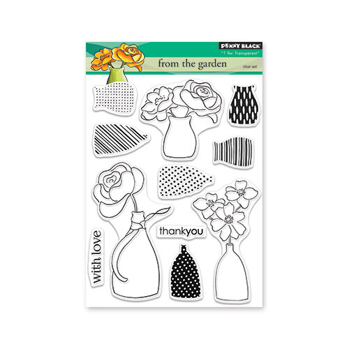Penny Black - Timeless Collection - Clear Photopolymer Stamps - From The Garden