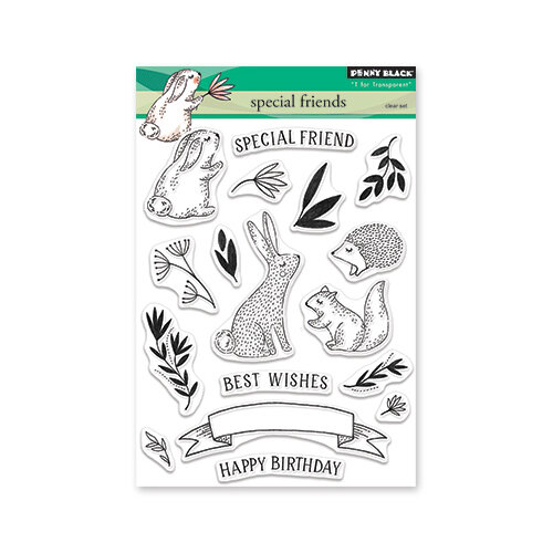 Penny Black - Timeless Collection - Clear Photopolymer Stamps - Special Friends