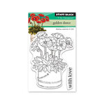 Penny Black - Full Bloom - Clear Photopolymer Stamps - Golden Dance