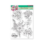 Penny Black - Full Bloom - Clear Photopolymer Stamps - Flower Fantasy