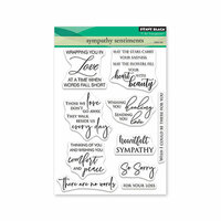 Penny Black - Full Bloom - Clear Photopolymer Stamps - Sympathy Sentiments