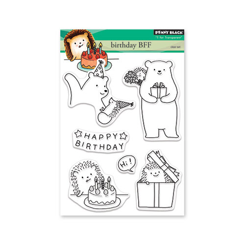 Penny Black - Clear Photopolymer Stamps - Birthday BFF