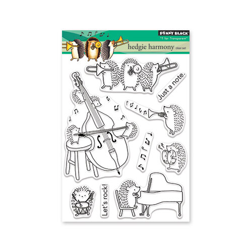 Penny Black - Clear Photopolymer Stamps - Hedgie Harmony