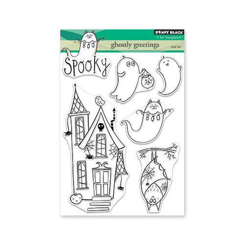 Penny Black - Halloween - Clear Photopolymer Stamps - Ghostly Greetings