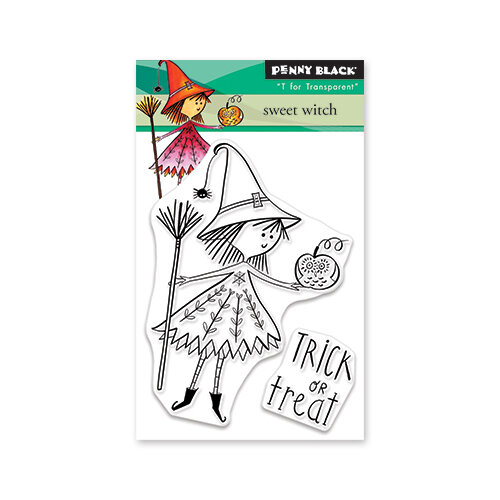 Penny Black - Halloween - Clear Photopolymer Stamps - Sweet Witch