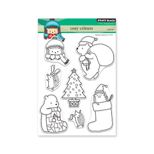 Penny Black - Christmas - Clear Photopolymer Stamps - Cozy Critters